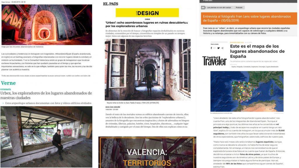 Abandoned Spain en medios digitales