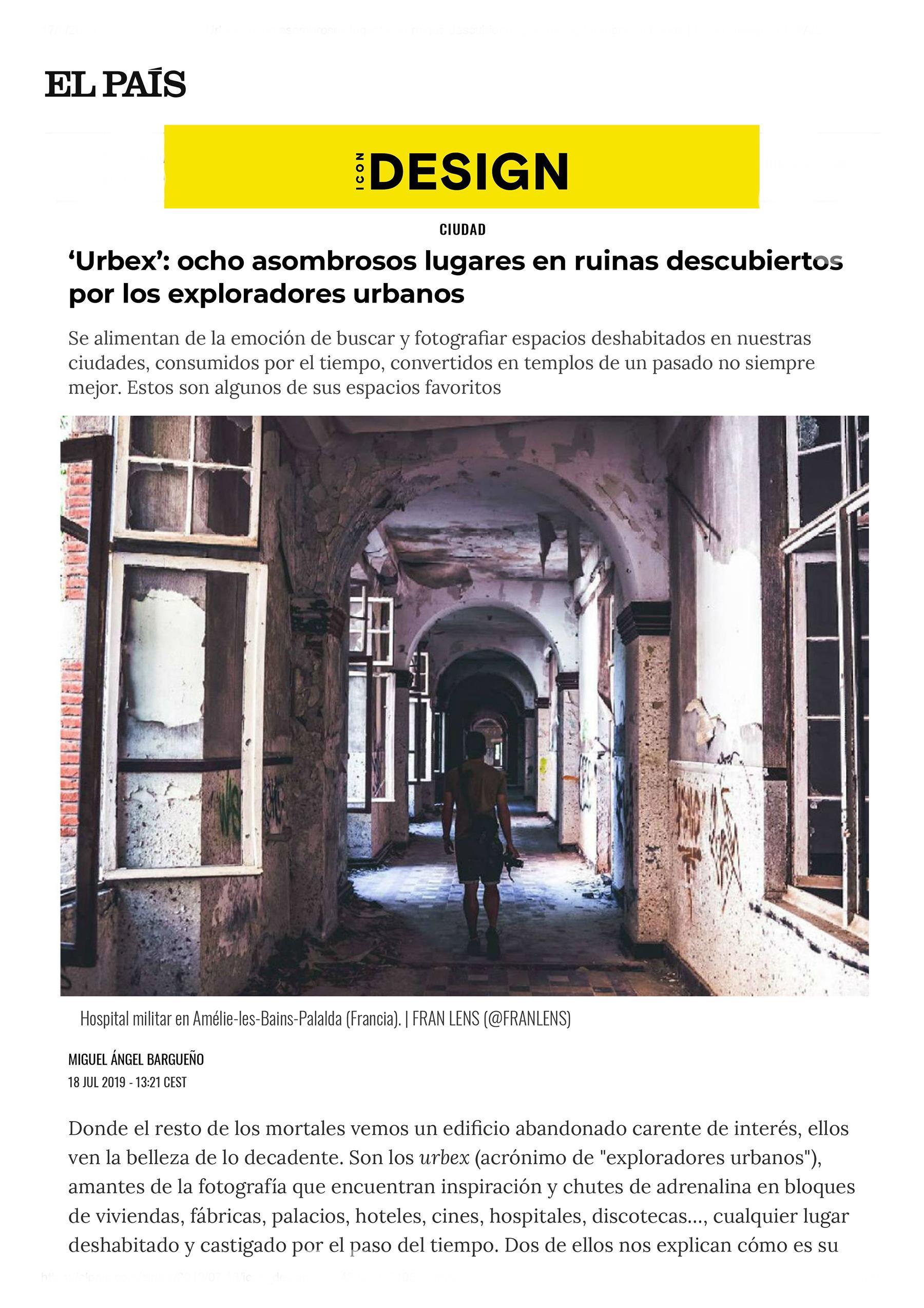 Entrevista de Abandoned Spain para ICON Design_ EL PAÍS
