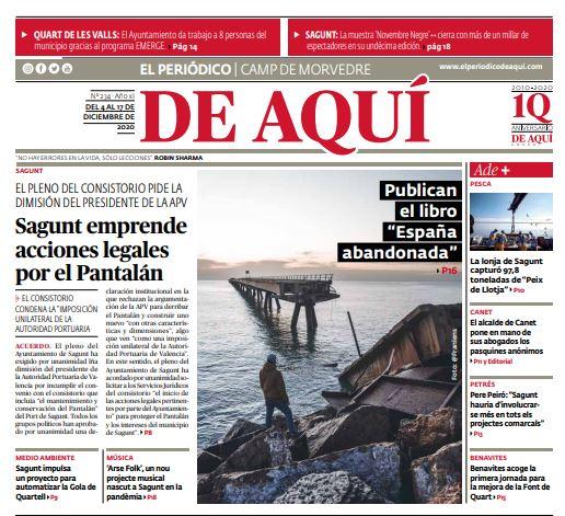 El periódico de aquí habla del libro de Abandoned Spain